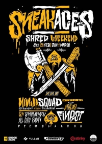 Sneak Aces SHRED Weekend at Fterølaka! (28 Feb 2015)