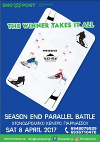 SnowPort , The Winner takes it ALL- parallel race, Παρνασσός, 8 Απρ 2017